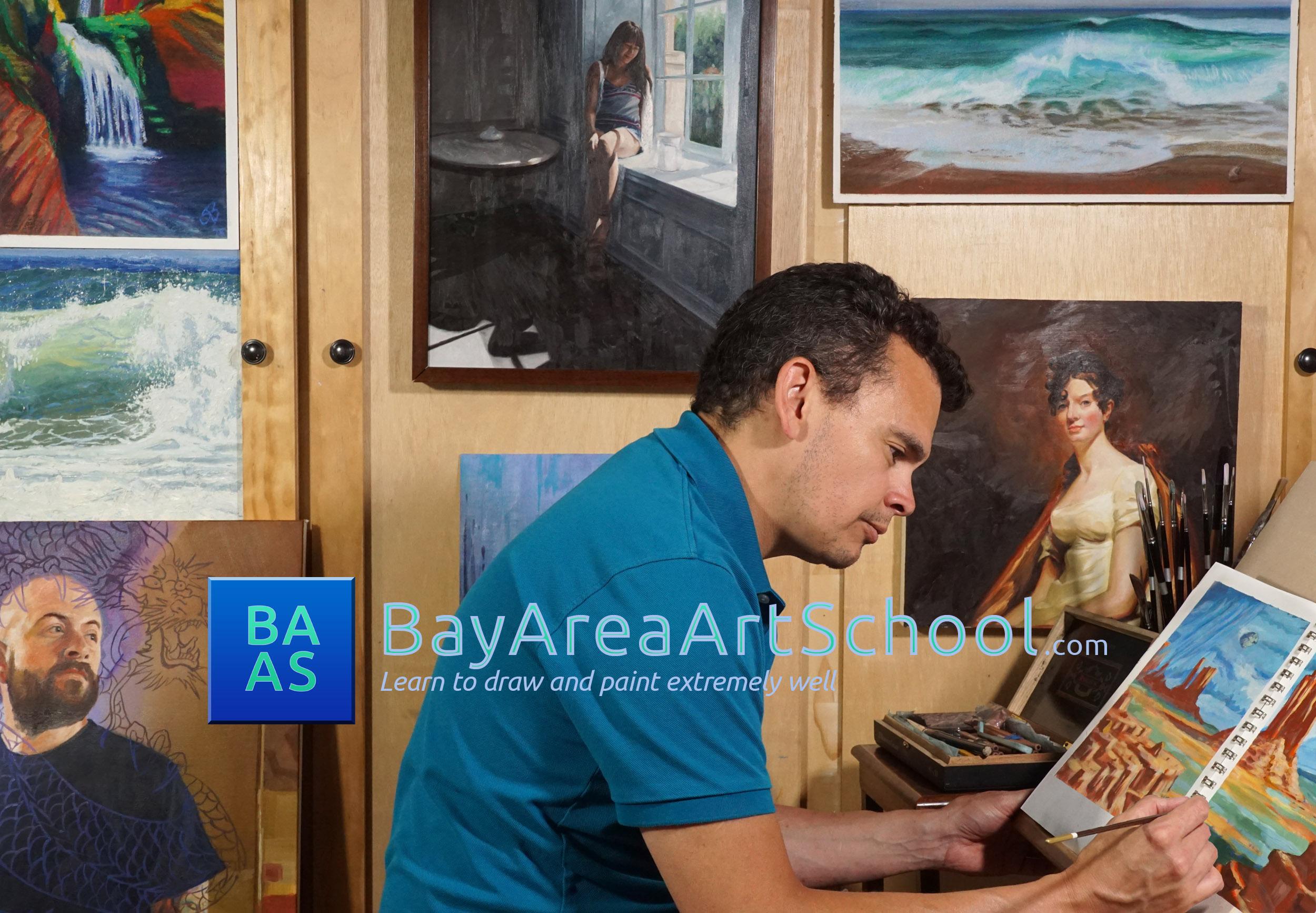 Jason Budowski - art teacher - bay area art school
